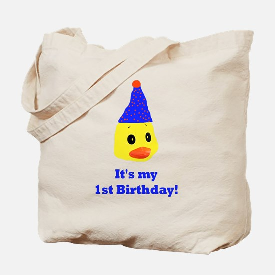 My first birthday duck Tote Bag