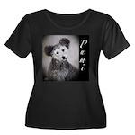 Pumi Women's Plus Size Scoop Neck Dark T-Shirt