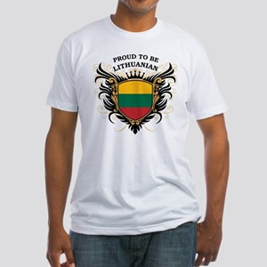 Proud to be Lithuanian Fitted T-Shirt