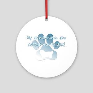 Coton de Tulear Grandchildren Ornament (Round)