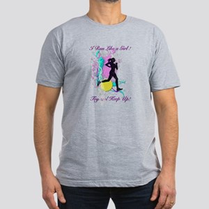 I run like a girl, try Men's Fitted T-Shirt (dark)