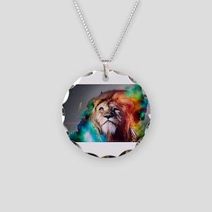 Dream Lion Necklace Circle Charm