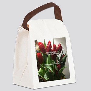I'm sorry your brackets are b Canvas Lunch Bag