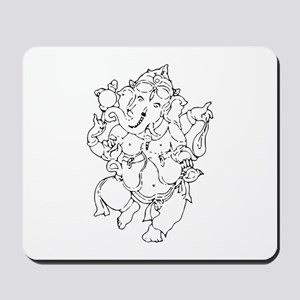 Ganesha Yoga Design Mousepad