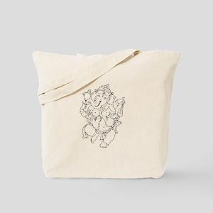 Ganesha Yoga Design Tote Bag