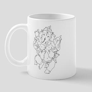 Ganesha Yoga Design Mug