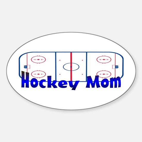 Hockey MOM Oval Decal