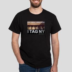 I TAG NY graffiti tee shirt dark NYC New York City