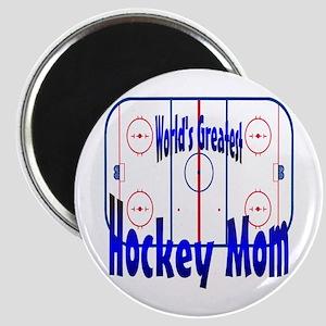 Greatest Hockey MOM Magnet