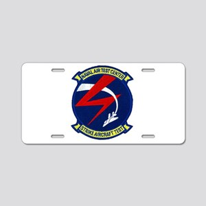 Strike Aircraft Test Center Aluminum License Plate