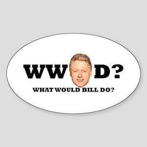 WW Bill D? Oval Sticker