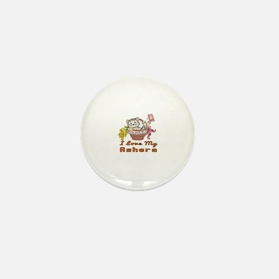 I Love My Ashera Designs Mini Button