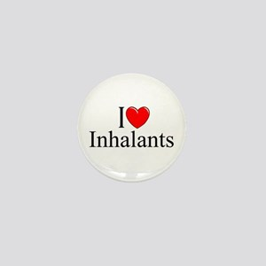"""I Love (Heart) Inhalants"" Mini Button"