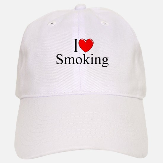 """I Love (Heart) Smoking"" Baseball Baseball Cap"