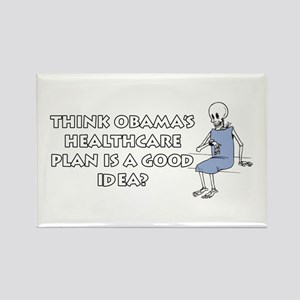 Anti-Obama Healthcare Rectangle Magnet
