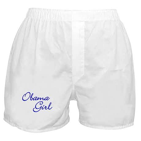 Obama Girl - Blue Boxer Shorts