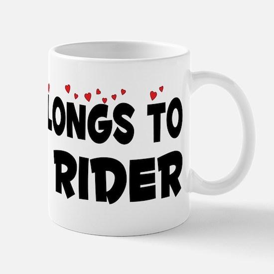 Belongs To A Luge Rider Mug
