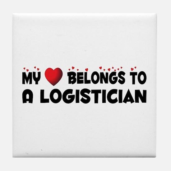 Belongs To A Logistician Tile Coaster