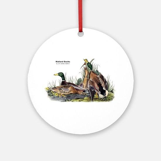 Audubon Mallard Ducks Ornament (Round)
