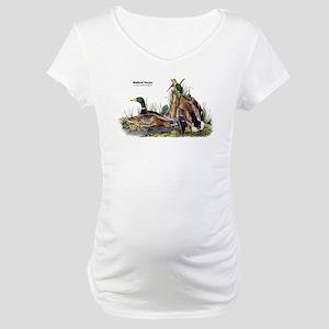 Audubon Mallard Ducks (Front) Maternity T-Shirt