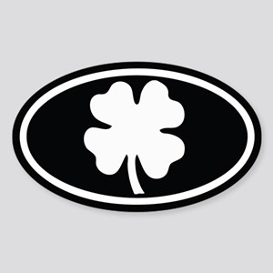 Shamrock Oval Oval Sticker