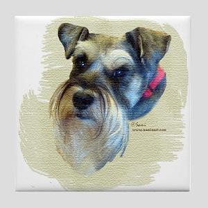 Billi the Schnauzer Tile Coaster