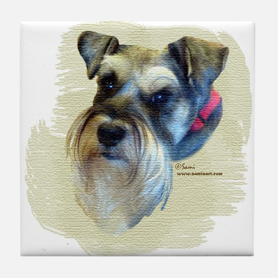 Billi the Schnauzer Tile Coaster