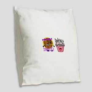 Cuntcake and twatwaffle humor Burlap Throw Pillow