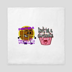 Cuntcake and twatwaffle humor Queen Duvet
