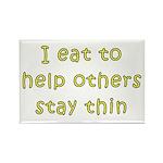 I Eat... Rectangle Magnet (10 pack)