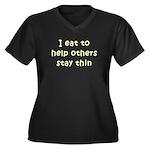 I Eat... Women's Plus Size V-Neck Dark T-Shirt