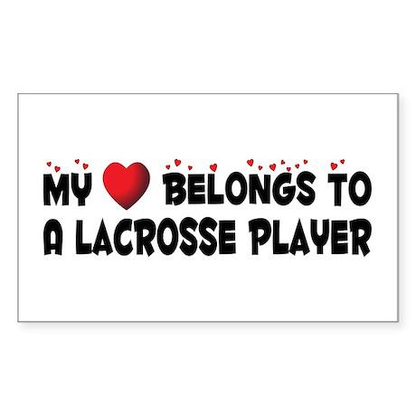 Belongs To A Lacrosse Player Rectangle Sticker