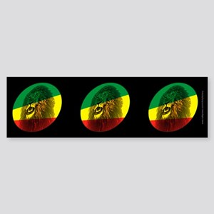 Reggae Lion Dark Bumper Sticker