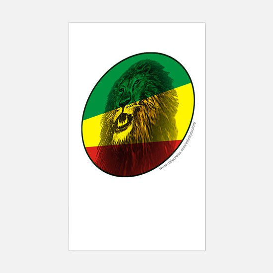Reggae Lion Rectangle Decal