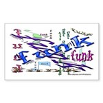Funk Rectangle Sticker