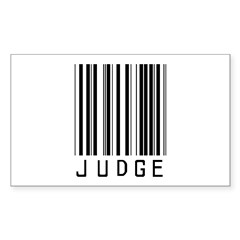 Judge Barcode Rectangle Decal