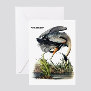 Audubon Great Blue Heron Greeting Card