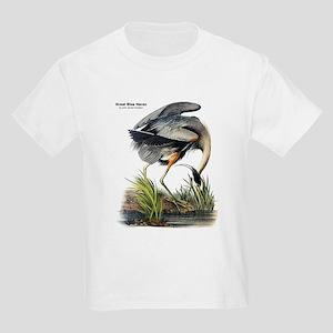 Audubon Great Blue Heron (Front) Kids Light T-Shir