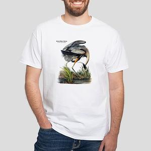 Audubon Great Blue Heron White T-Shirt