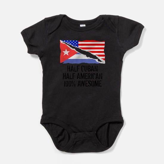 Half Cuban Half American Awesome Body Suit