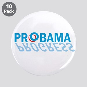 "prObama = progress 3.5"" Button (10 pack)"