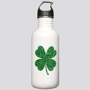Green Glitter Shamrock Stainless Water Bottle 1.0L