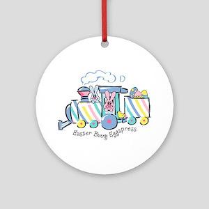 Easter Bunny Eggspress Ornament (Round)