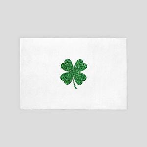 Green Glitter Shamrock st. particks Ir 4' x 6' Rug