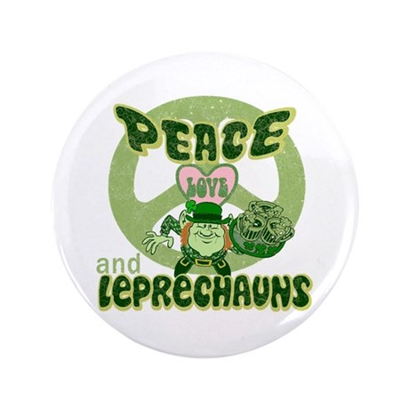 "Peace Love and Irish Folklore 3.5"" Button (100 pac"