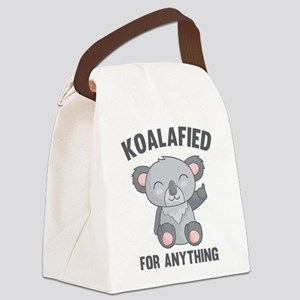 Koalafied For Anything Canvas Lunch Bag