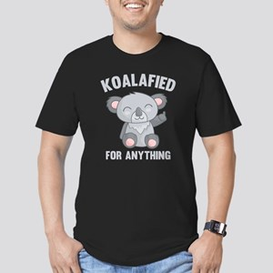 Koalafied For Anything Men's Fitted T-Shirt (dark)