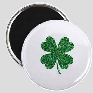 Green Glitter Shamrock st. particks Irish Magnets