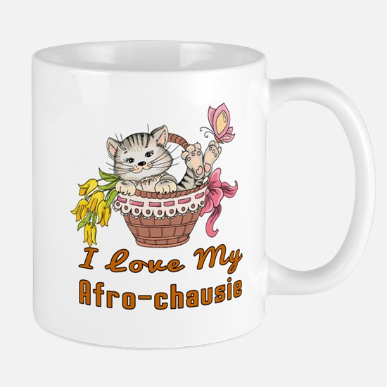 I Love My Afro-chausie Designs Mug