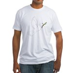 Dove with Olive Branch Fitted T-Shirt